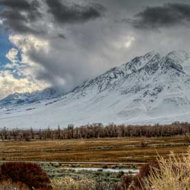 Sierra Nevada mountains in Bishop, California.