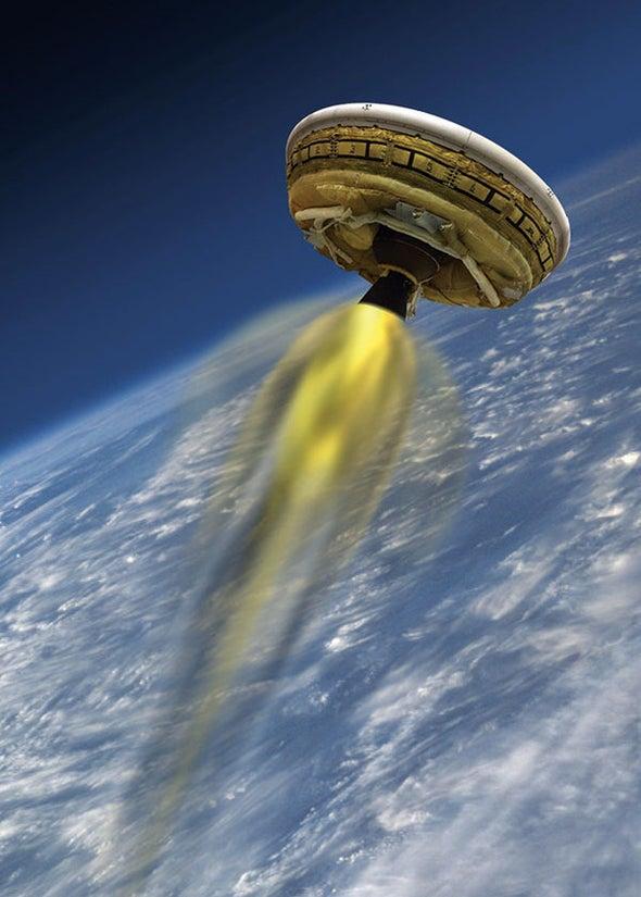 NASA Tests Its Flying-Saucer Lander for Mars