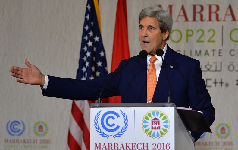 KERRY: Trump's views on climate change might change once he takes office