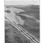 A view of how the Gatun Locks should look, 1912: