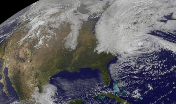 Hurricane Sandy Surges toward Northeast U.S.