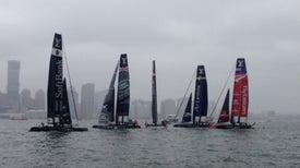 Flying Boats Soar over the Hudson