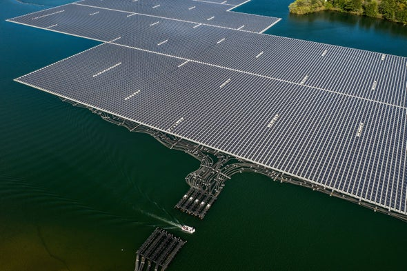 Floating Panels Buoy Predictions of Global Solar Growth Spurt