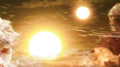 The Discovery of Planets with 2 Suns