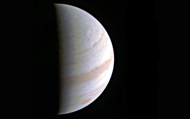 NASA's Juno Transmits First Close Look at Jupiter