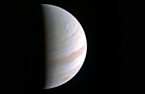 NASA's Juno Transmits First Close Look at Jupiter