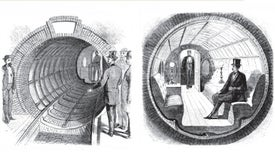 The First Subway in New York City Was a Cylindrical Car Pushed by Air