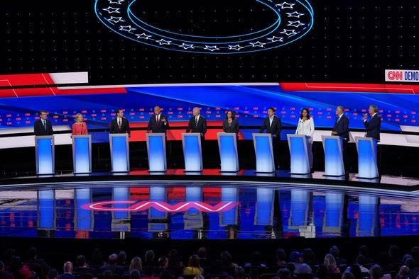 In Second Democratic Debate, Candidates Criticize Biden's Climate Plans