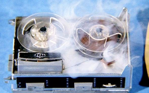 Self-Destructing Circuits Mimic <i>Mission: Impossible</i> Tape