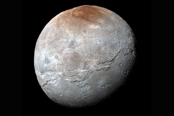 Scientists Explain Pluto's Red-Headed Moon