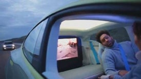 Luxury Driverless Concept Car Offers View of the Future