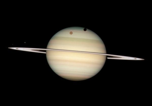 Quartet of Saturnian moons