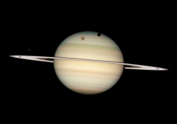 Quartet of Saturnian moons