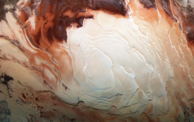 Buried �Lakes� on Mars May Just Be Frozen Clay