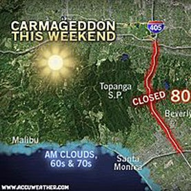 "Will the Weather Add to ""Carmageddon"" Headaches in Los Angeles?"