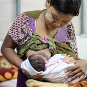 A Myanmar mother