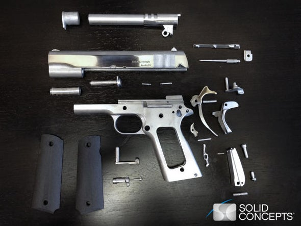 Uh-oh, this 3D-printed metal handgun actually works