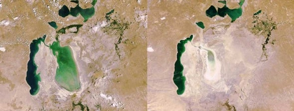 Shrinking Sea: Over Half of the Aral Sea Has Vanished in Three Years