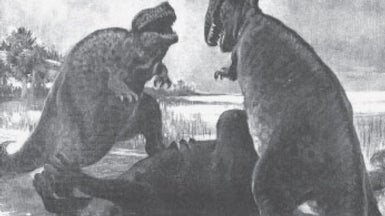 Fighting Tyrannosaurs and Natural History, from 1915