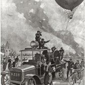 Observation Balloon, Arras, France, 1915:
