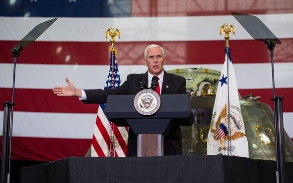 "Pence Calls for ""New Era of Space Exploration"" at NASA"