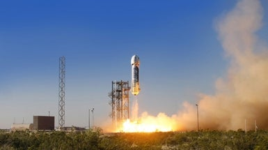 Jeff Bezos Co. Launches Surprise Test of Private Spaceship