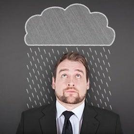 man-under-raincloud