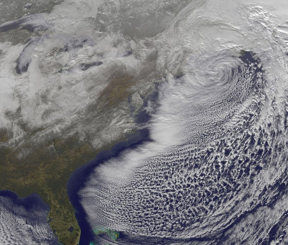 After the Storm: Satellite catches U.S. East Coast blizzard moving out to sea