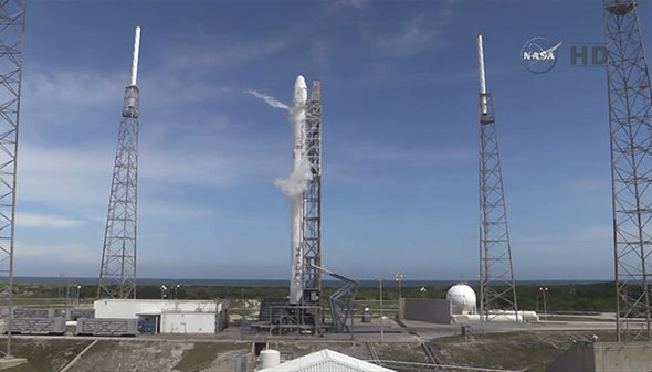 Thunderstorm Delays SpaceX Rocket Landing Attempt