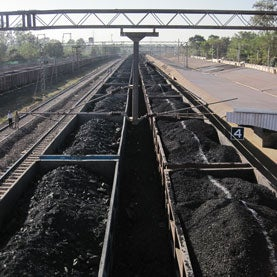 near the coal fields in India