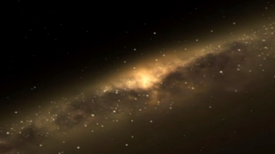 Evolution of the Cosmos Re-Created by Model of Large Slice of Universe