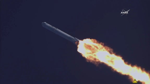 SpaceX Sticks a Rocket Landing at Sea in Historic First