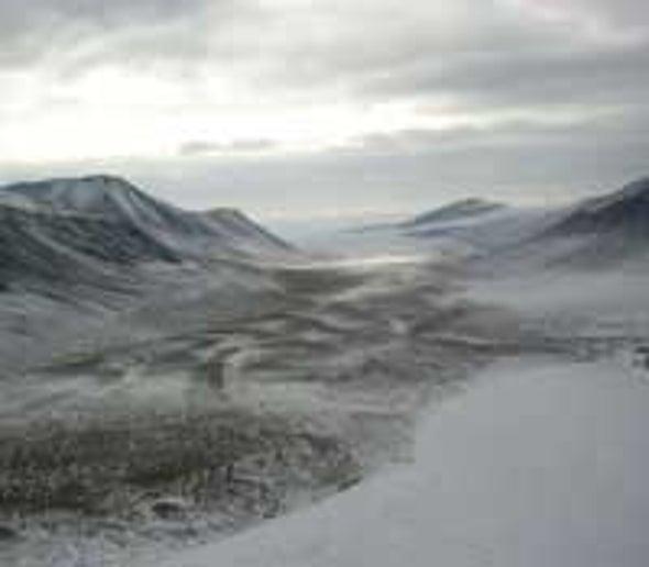 Icy Lake Houses Extreme Ecosystem