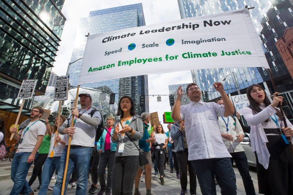 "Amazon Workers Win Climate Dispute, But It Is ""Not Enough"""