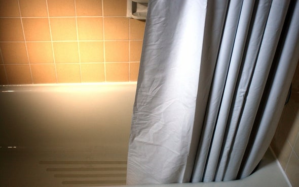 Why Does the Shower Curtain Move Toward the Water?