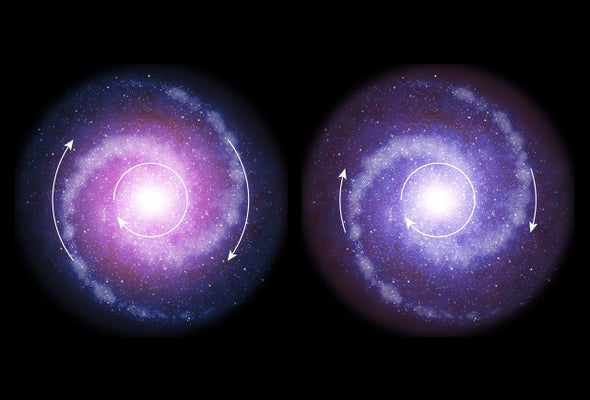 dark matter did not dominate early galaxies scientific american