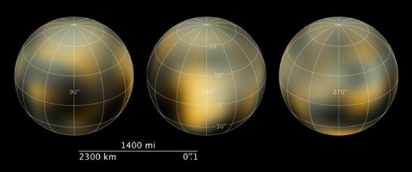 New Hubble maps show a changing Pluto