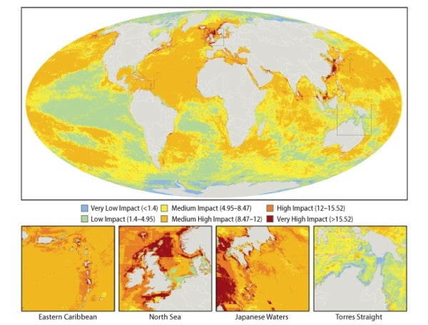 Ocean Impact Map Reveals Human Reach Global