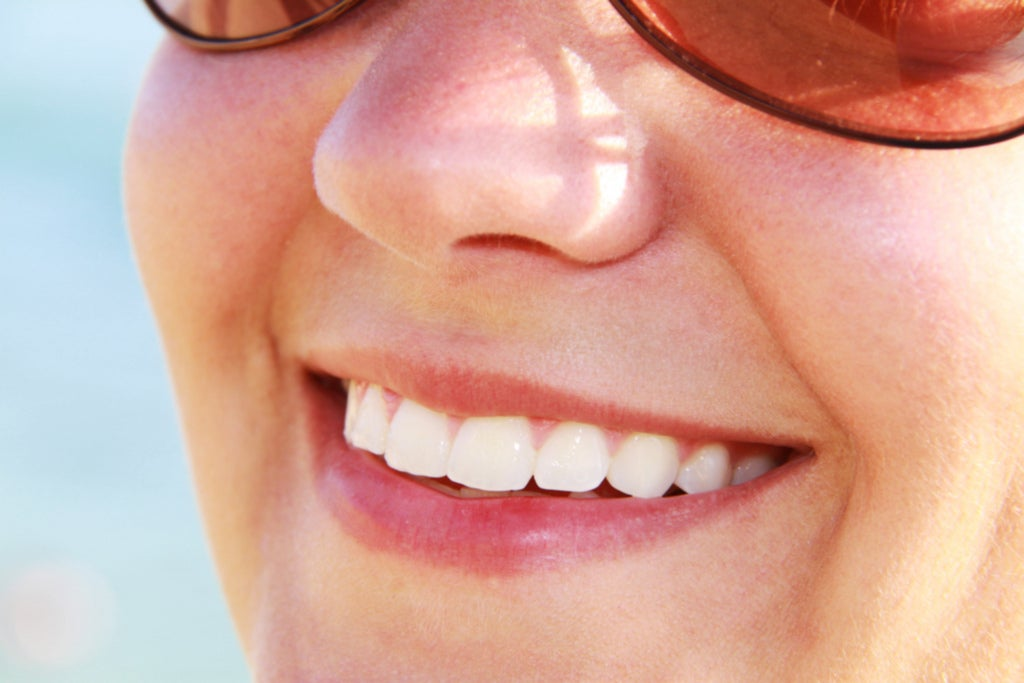 Without teeth smiling meaning showing This Type
