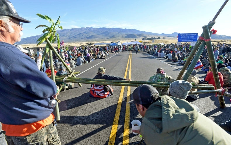 hawaii telescope protest shuts down 13 observatories on