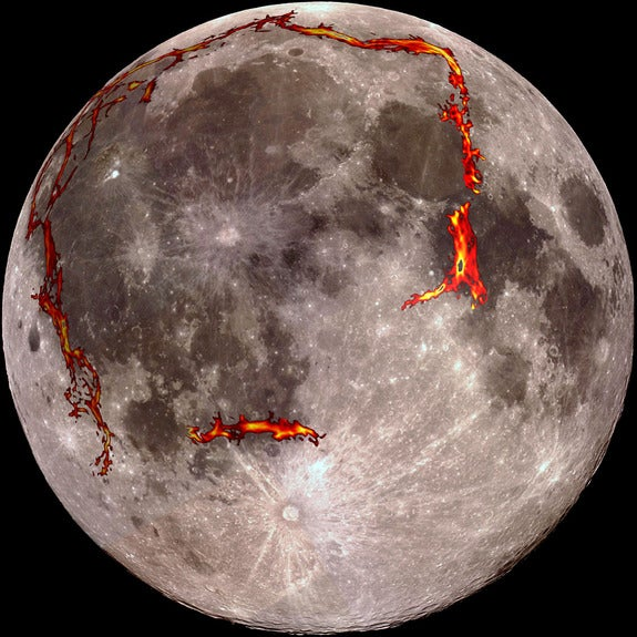 "Lunar Lava Left ""Strikingly Geometric"" Shapes on the Moon's Surface"