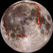 Lunar Lava Left 'Strikingly Geometric' Shapes on Moon's Surface