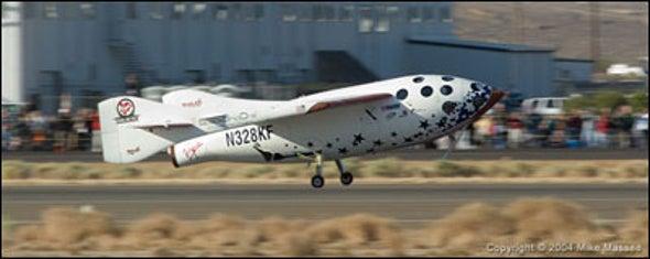 SpaceShipOne Soars