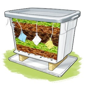 Recycling Science: Test Biodegradable Products in an Indoor Composter