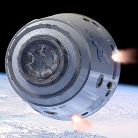 Artist's depiction of SpaceX Dragon capsule