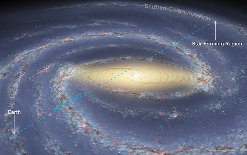 Astronomical Map Of Galaxies In The Us - Astronomical map of galaxies in the us