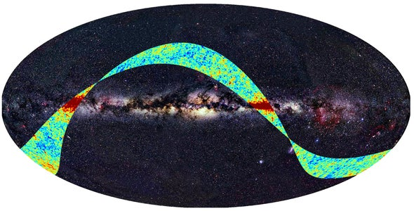 Planck spacecraft's first look back in time