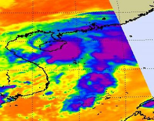 Cyclonic cycle: The life and death of a tropical depression near China