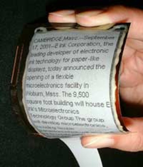 Scientists Fabricate Pliable Electronic Display