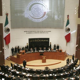 The tribune of the new Senate Palace (Mexican Senate)